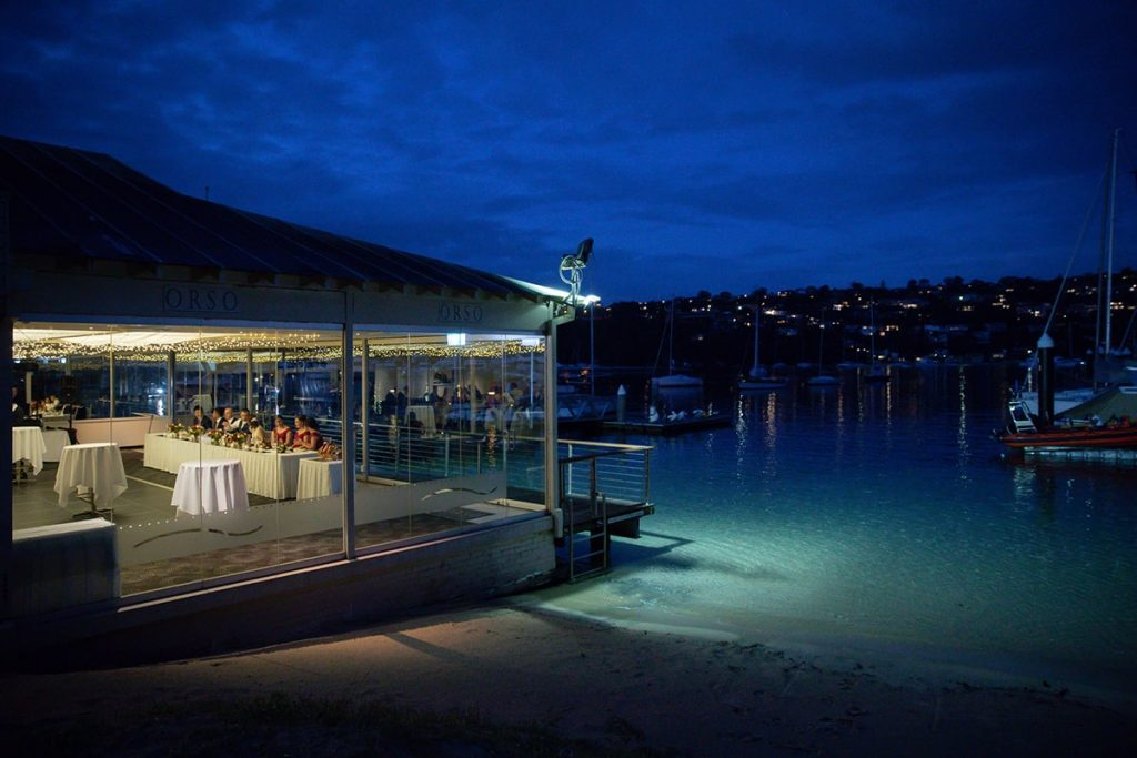 Northern Beaches Wedding Venue - Orso Bayside Reception Mosman