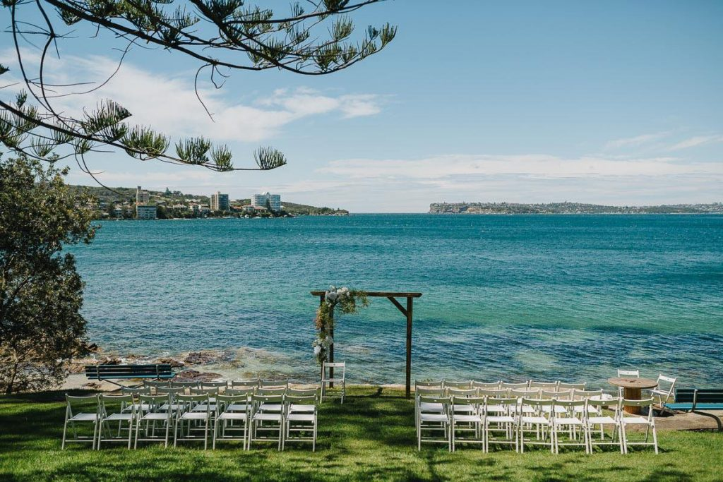 Northern Beaches Wedding Ceremony Location - Delwood Beach Manly