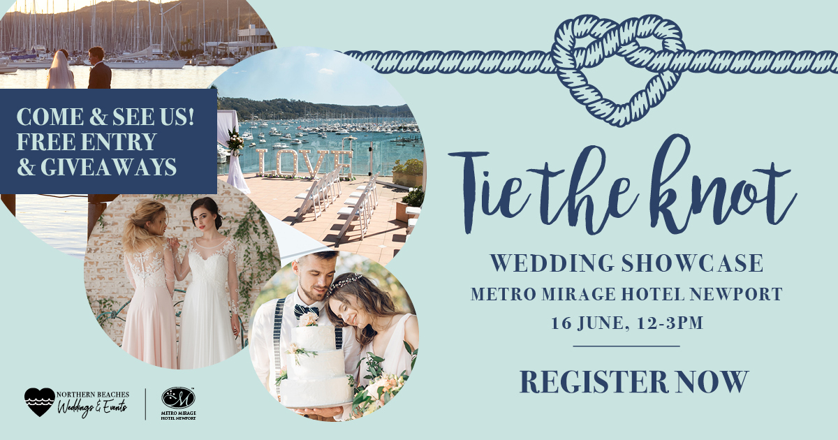 Northern Beaches Weddings & Events Tie The Knot Showcase - Register Now